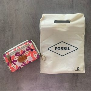 Fossil Floral Wallet Purse